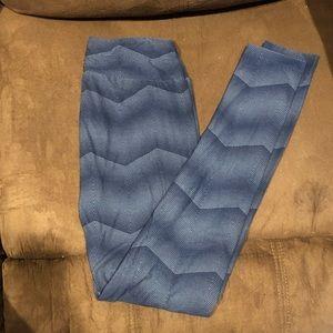 LuLaroe Leggings Jean Blue Size OS
